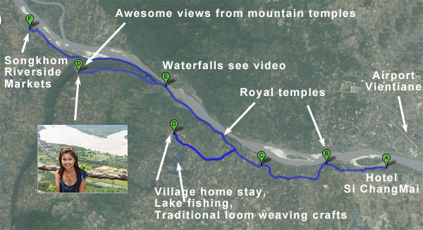 Mekong River Cruise Maps